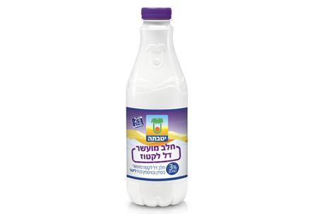 חלב מועשר דל לקטוז 3%