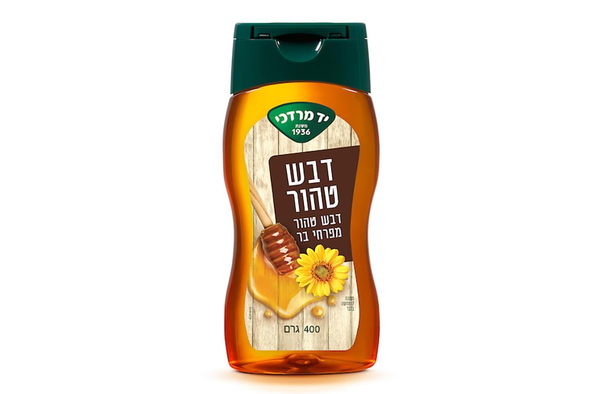 דבש טהור מפרחי בר לחיץ - 400 גרם