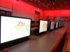 מסכי מחשב למשחק במרכז מבקרים במחלבות שטראוס