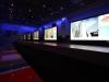 חדר טלוויזיות במרכז מבקרים במחלבות שטראוס