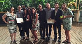 גאים על הזכייה בשלושה פרסים בתחרות ה'אפי' השנתית